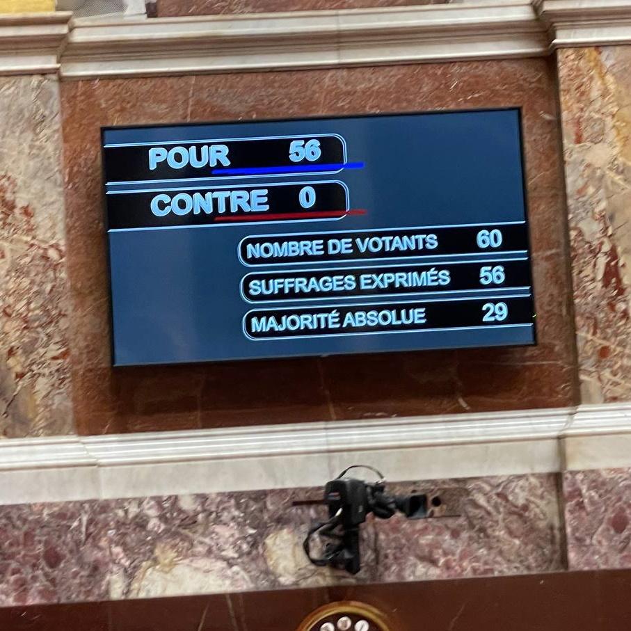 Vote en faveur de la loi Egalim II à l'Assemblée nationale.