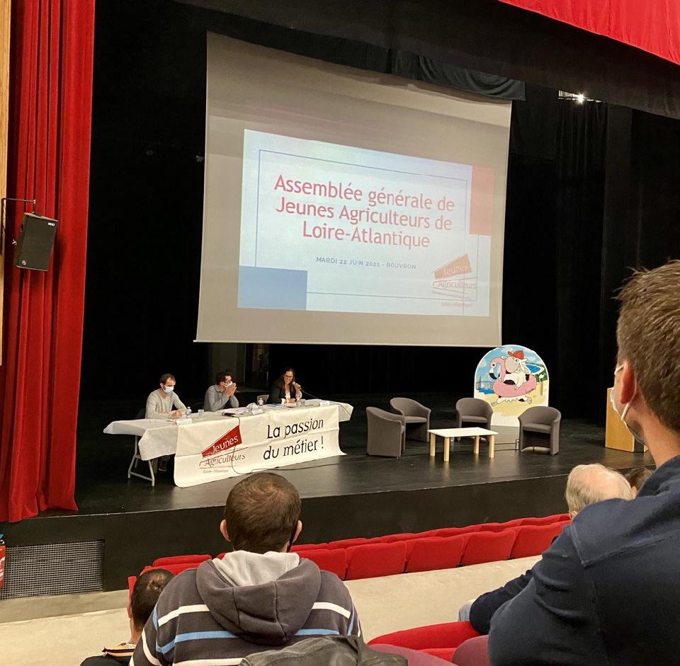 Présent au rendez-vous organisé par les jeunes agriculteurs de Loire-Atlantique