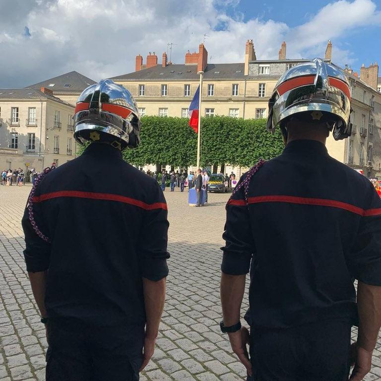 Célébration et prise d'armes du 14 juillet à Nantes