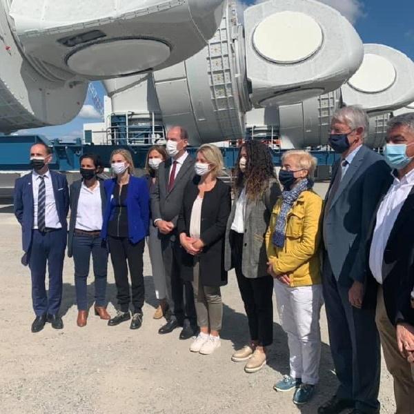 Visite du Premier Ministre Jean Castex à Saint-Nazaire